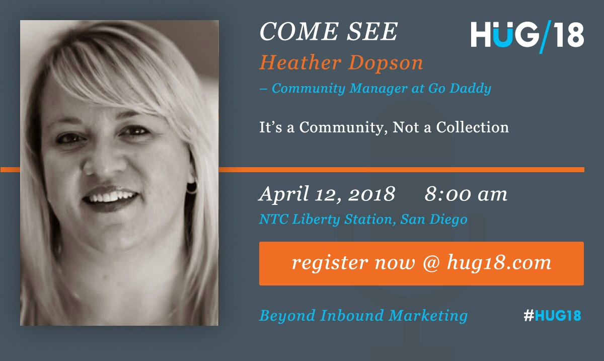SDHUG_SpeakerAnnouncement_Heather_HUG18