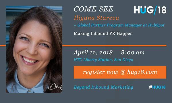 SDHUG_SpeakerAnnouncement_Iliyana_HUG18