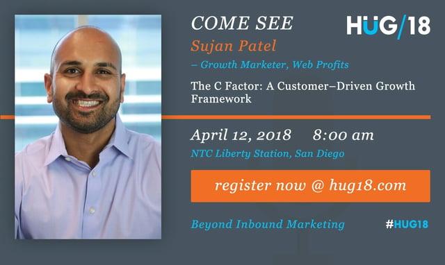 Sujan Patel HUG2018